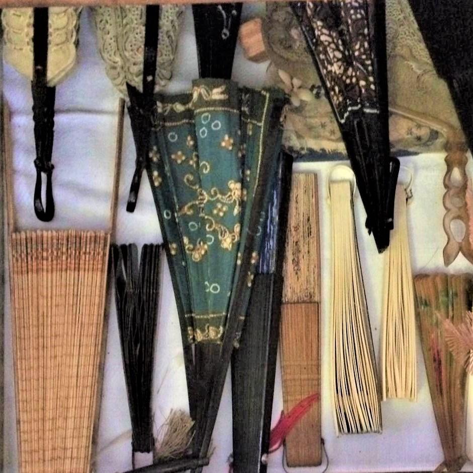 De collectie antieke waaiers